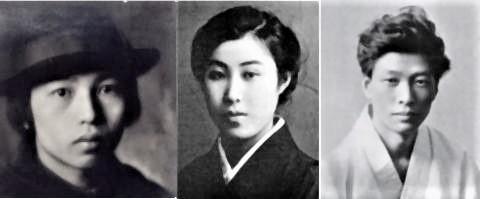 pict-中原中也18才(写真左)、長谷川泰子21才(写真中央)、小林秀雄23才.jpg