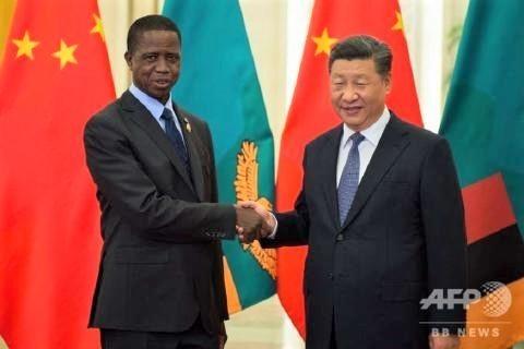 pict-北京で2国間協議,ザンビアのエドガー・ルング大統領(2018年9月1日撮影)。.jpg