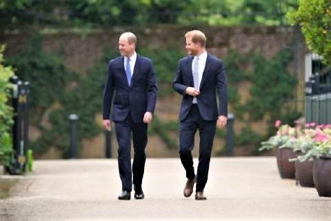 pict-William and Harry arrive..jpg